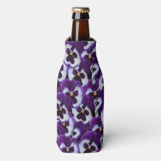 Rafraichisseur De Bouteilles Purple_Pansy_Bouquet, _Stubby_Cooler_Holder.