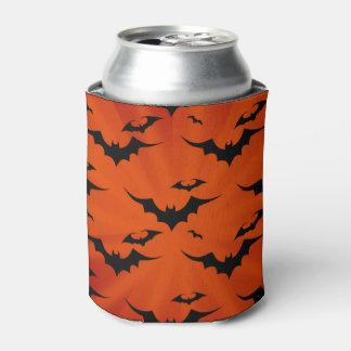 Rafraichisseur De Cannettes Battes de Halloween sur l'arrière - plan orange