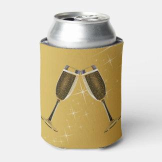 Rafraichisseur De Cannettes Célébration en verre de Champagne sur l'or