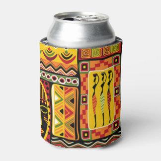 Rafraichisseur De Cannettes Collage africain coloré d'impression de motif