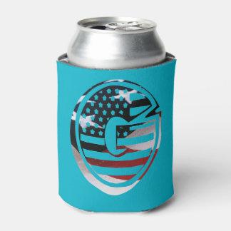 Rafraichisseur De Cannettes Drapeau patriotique des Etats-Unis d'initiale de