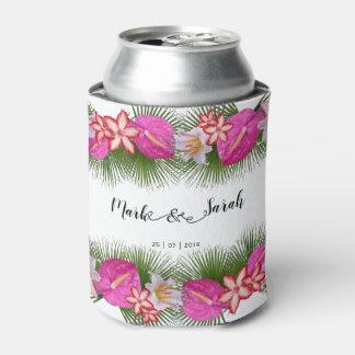 Rafraichisseur De Cannettes Fleurs tropicales et calligraphie de palmettes