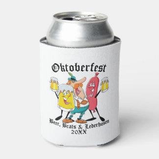 Rafraichisseur De Cannettes Gosses et Lederhosen de bière d'Oktoberfest