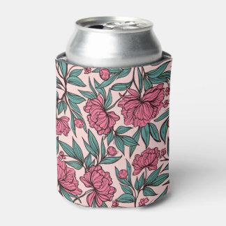Rafraichisseur De Cannettes Illustration tirée par la main florale de rose