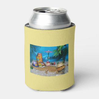 """Rafraichisseur De Cannettes Le dragon barbu la """"vie est bière d'une plage"""""""
