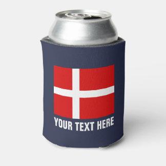 Rafraichisseur De Cannettes Le drapeau danois peut support de bière d'icône