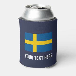 Rafraichisseur De Cannettes Le drapeau suédois peut les supports faits sur