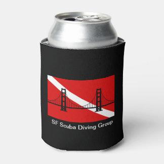 Rafraichisseur De Cannettes Le logo de groupe de plongée à l'air de SF peut