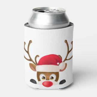 Rafraichisseur De Cannettes Le renne élégant avec le casquette de Père Noël