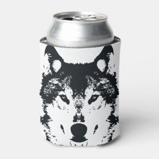 Rafraichisseur De Cannettes Loup noir d'illustration
