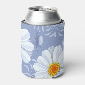 Rafraichisseur De Cannettes Motif bleu de fleur blanche d'été de ressort