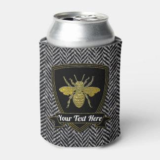 Rafraichisseur De Cannettes Motif en arête de poisson de tweed d'abeille votre