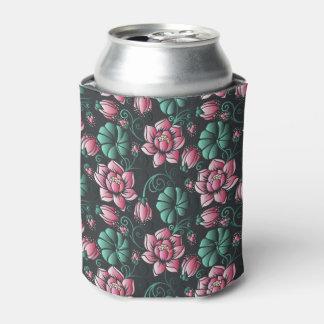 Rafraichisseur De Cannettes Motif floral élégant de motif rose de Lotus