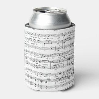 Rafraichisseur De Cannettes Motif noir et blanc de musique de feuille