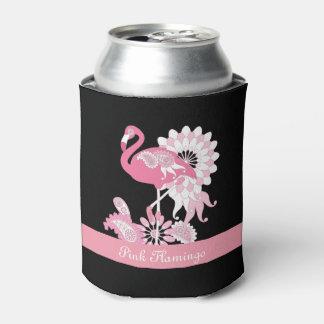 Rafraichisseur De Cannettes Noir personnalisé par cool Girly rose de flamant