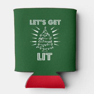 Rafraichisseur De Cannettes Obtenons la chemise drôle allumée de Noël