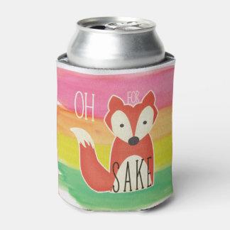 Rafraichisseur De Cannettes Oh pour des rayures d'aquarelle de saké de Fox