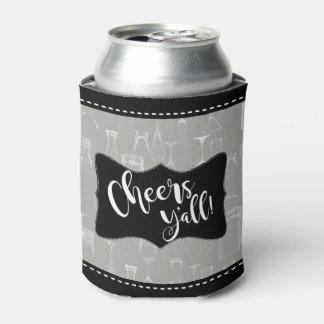Rafraichisseur De Cannettes Partie en verre de bière de motif de barre comique