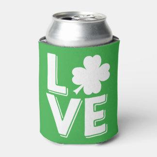 Rafraichisseur De Cannettes Shamrock irlandais d'amour du jour de St Patrick