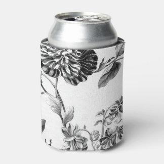 Rafraichisseur De Cannettes Toile floral botanique vintage noir et blanc