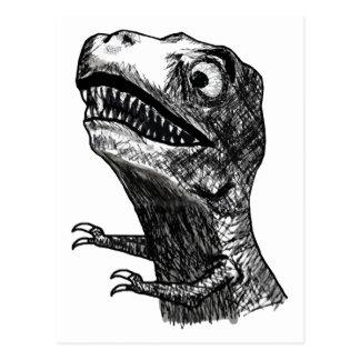 Rage Meme - carte postale de T-Rex