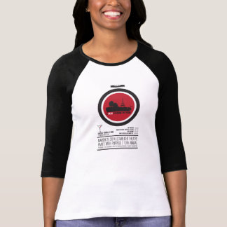 Raglan chanceux de poussin t-shirt