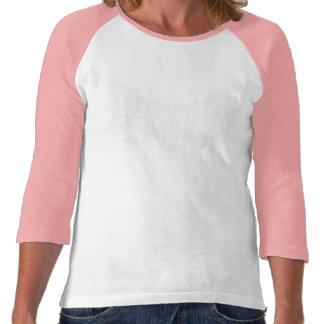 Raglan de douille du 3 4 de l étreinte de Violet T-shirt