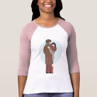Raglan de douille du ~ 3/4 de l'étreinte de t-shirt