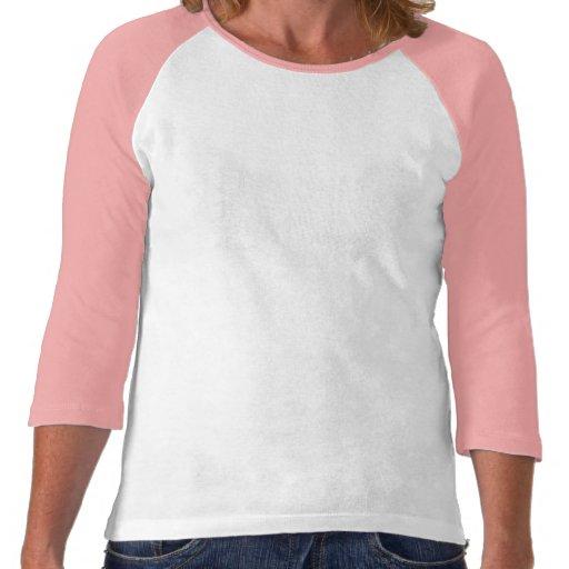 Raglan de douille du ~ 3/4 de l'étreinte de Violet T-shirt