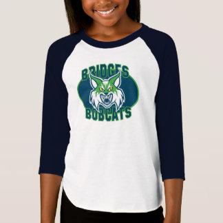 Raglan du chat sauvage des filles - couleurs de t-shirt