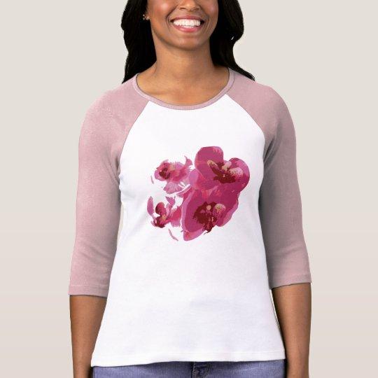 Raglan T-Shirt pour femme Orchidée