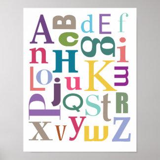 Ragout d'alphabet affiche