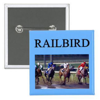 Railbird de course de chevaux badge
