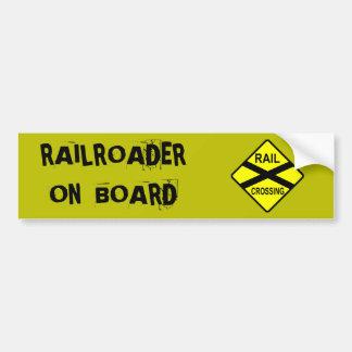 Railroader à bord autocollant pour voiture