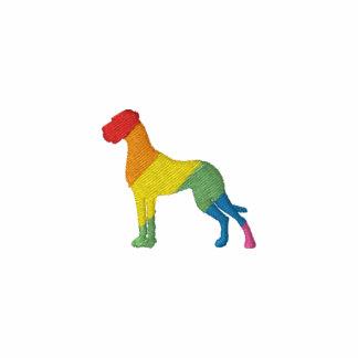 Rainbow great dane stiched