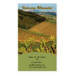 Raisin de vignoble d'établissement vinicole de carte de visite standard