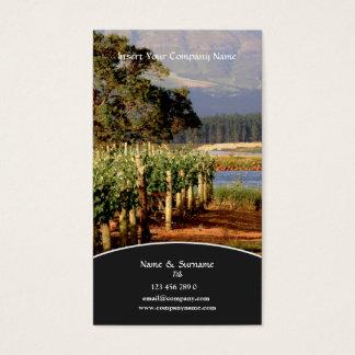 Raisin de vignoble d'établissement vinicole de cartes de visite