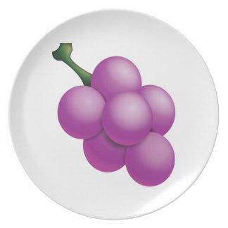 Raisin - Emoji Assiettes En Mélamine