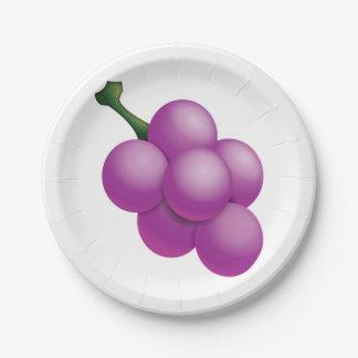 Raisin - Emoji Assiettes En Papier