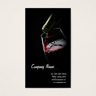 Raisin rouge de Sommelier d'établissement vinicole Cartes De Visite