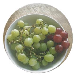 raisins assiettes en mélamine