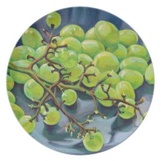 Raisins blancs assiettes en mélamine