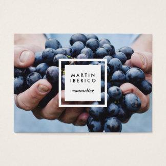 Raisins de cuve Sommelier ou cartes de visite de