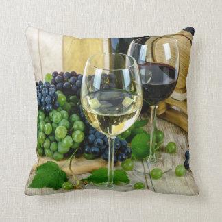 raisins et coussin de vin
