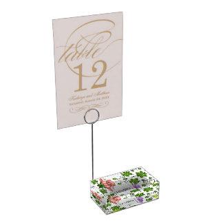 Raisins et vignes doux porte-cartes de  table