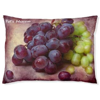 Raisins rouges et verts lit pour chien