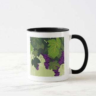 Raisins sur la vigne mug