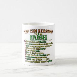 Raisons de Top Ten d'être irlandais Mug