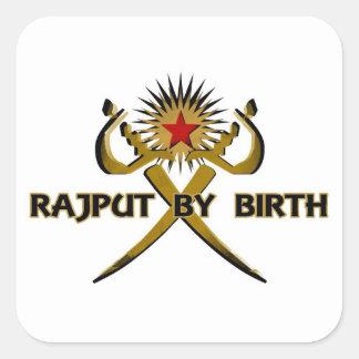 Rajput par la Sun-Étoile de naissance Stickers Carrés