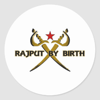 Rajput par l'étoile rouge de naissance adhésifs ronds